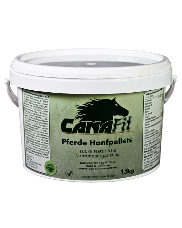 CANAFIT HORSE HEMP PELLETS - 1.5 KG-0