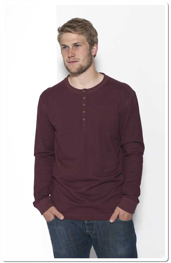 Buttontab Long sleeved Shirt - Red