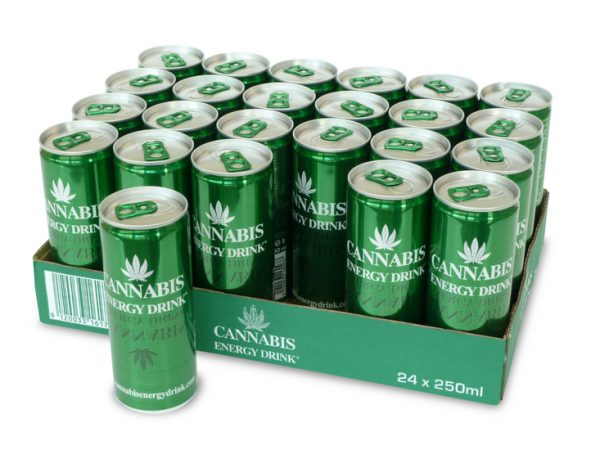 Cannabis Energy Drink tray