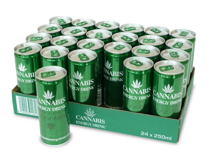 Cannabis Energy Drink tray