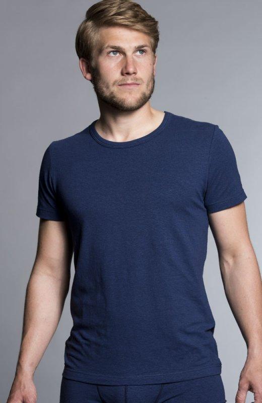 Slim Hemp T-shirt - Navy