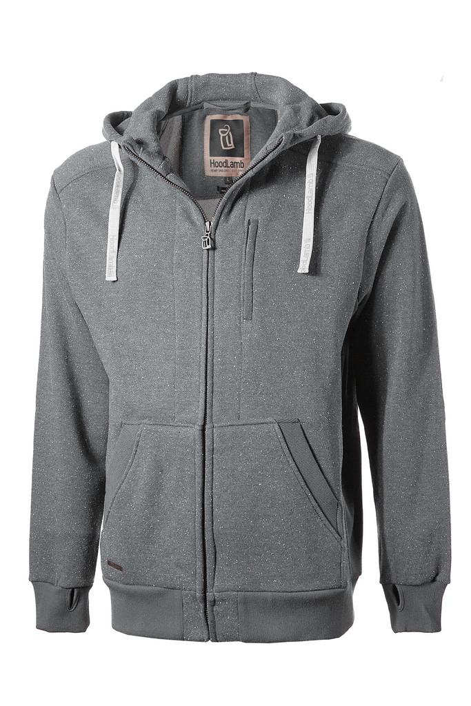 Men's Classic Zip Up Hoodie - Grey