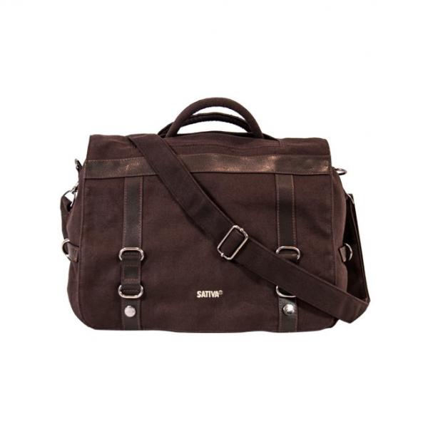 Briefcase Rucksack Shoulder Bag - Brown