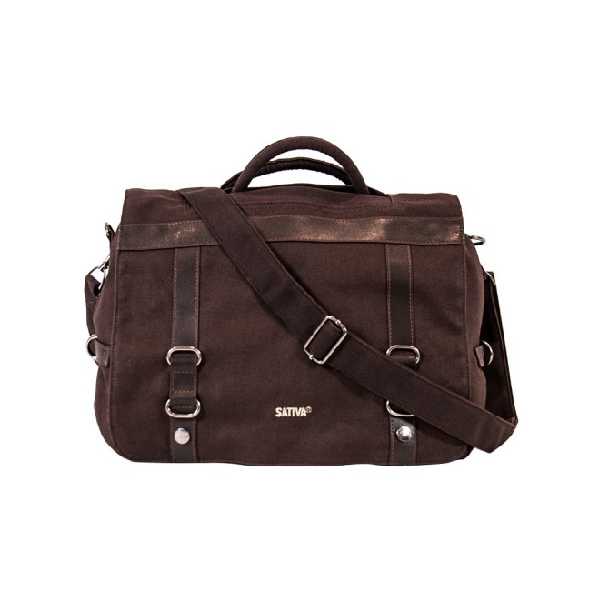 Briefcase Rucksack Shoulder Bag - Brown