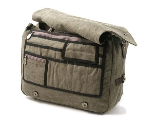 Briefcase Rucksack Shoulder Bag - Khaki