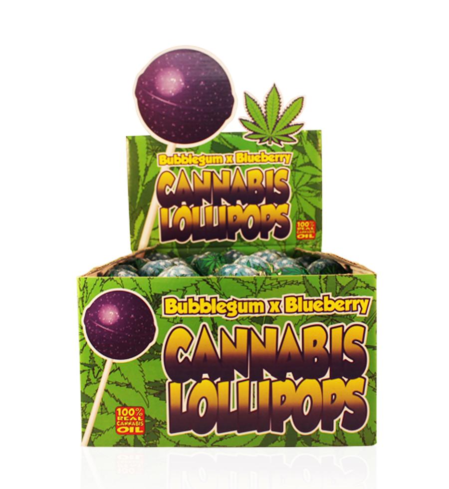 Buy Cannabis Lollipops Bubble Gum x Blueberry