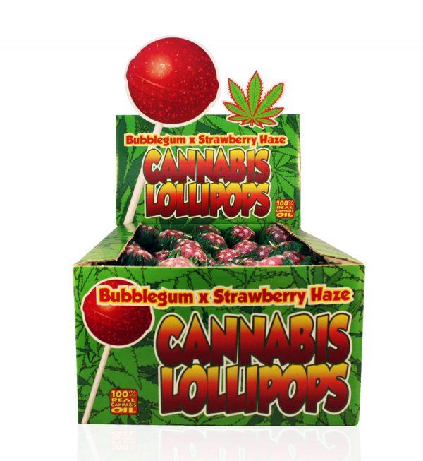 Buy Cannabis Lollipops Bubble Gum x Strawberry Haze