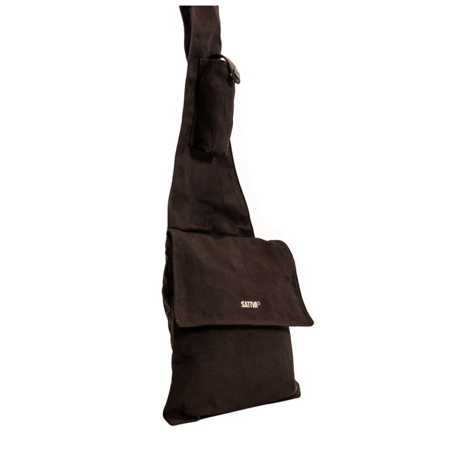 Cross Over Shoulder Bag - Brown