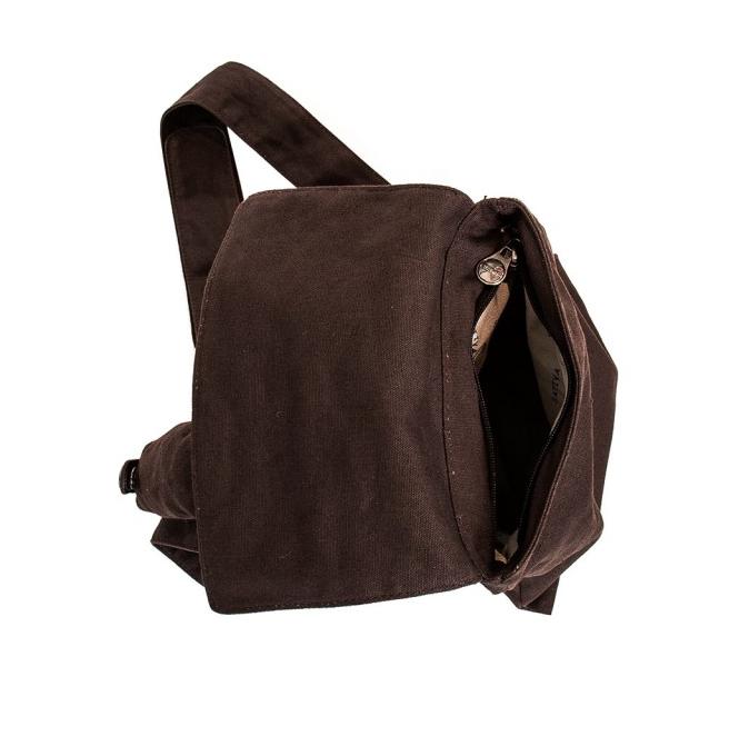 Cross Over Shoulder Bag - Brown