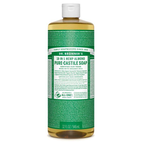 Almond Pure - Castile Liquid Soap - Liter