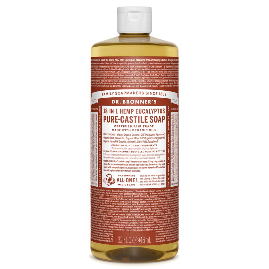 Eucalyptus Pure - Castile Liquid Soap - 1 L