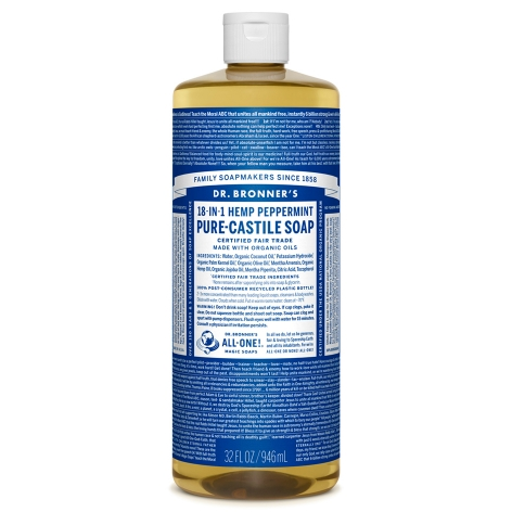 Peppermint Pure - Castile Liquid Soap - 1 L
