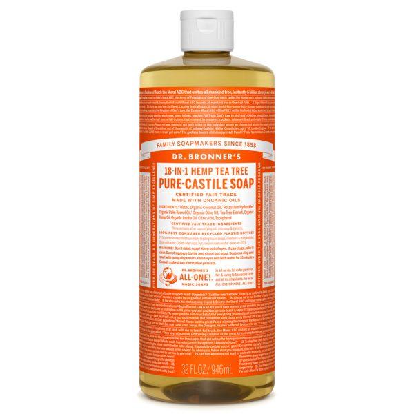 Tea Tree Pure-Castile Liquid Soap - 1L