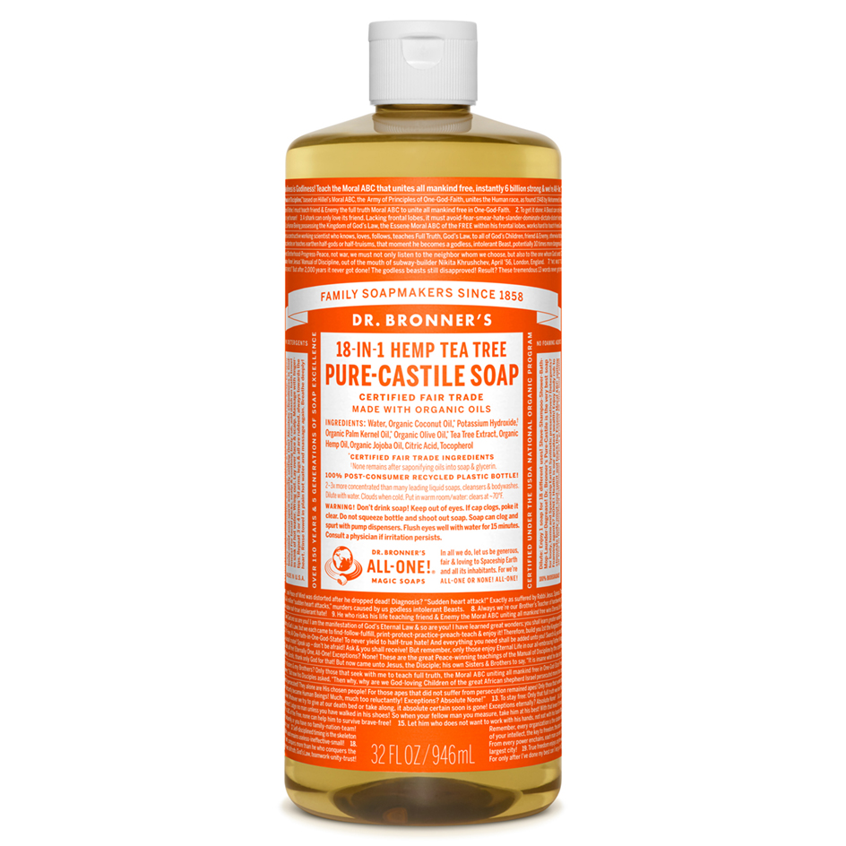 Tea Tree Pure-Castile Liquid Soap - 1L