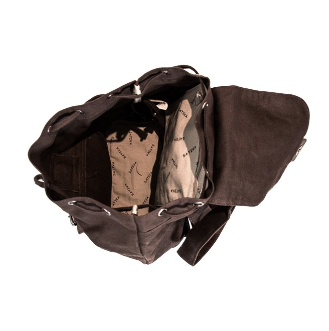 Hemp Single Rucksack - Brown