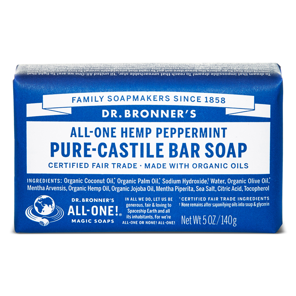 Peppermint Pure - Castile Bar Soap - 140 g