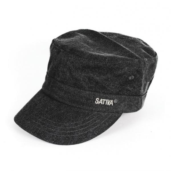 Black Hemp & Cotton Mix Cap