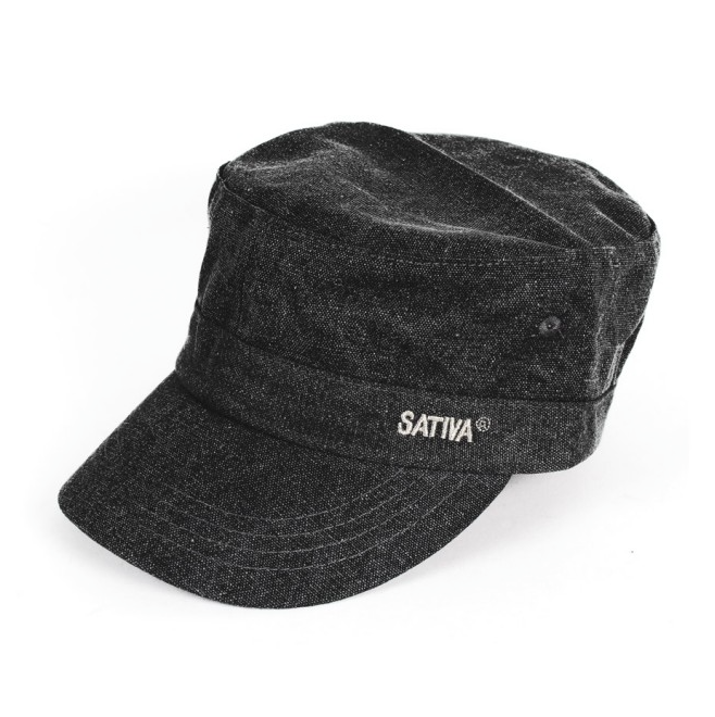 Black Hemp & Cotton Mix Cap