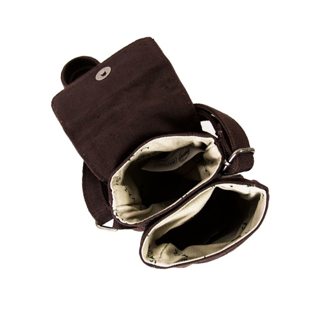 Hemp Mini Shoulder Bag - Brown