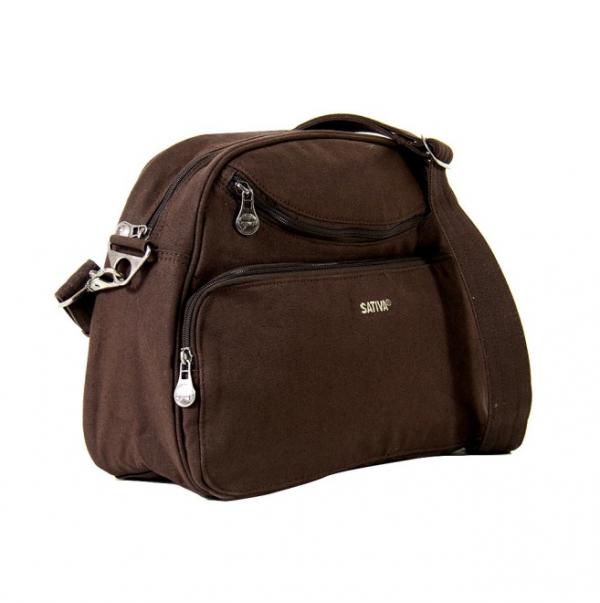 Hemp Travel Shoulder Bag - Brown