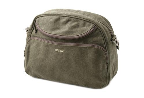 Hemp Travel Shoulder Bag - Khaki