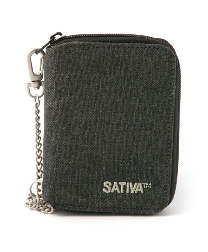 Hemp Wallet with Chain - Grey