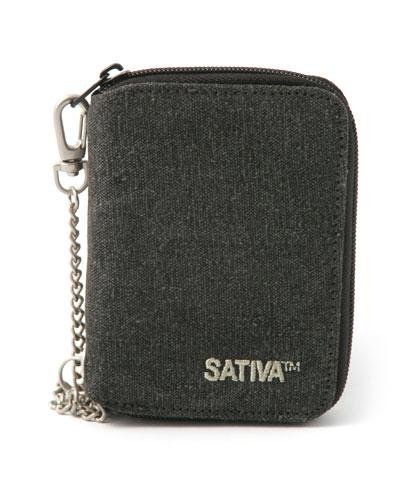 Hemp Wallet with Chain - Grey