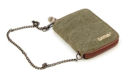 Hemp Wallet with Chain - Khaki