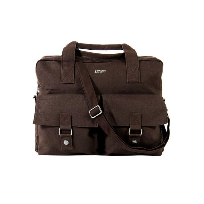 Large Hemp City Bag - Brown