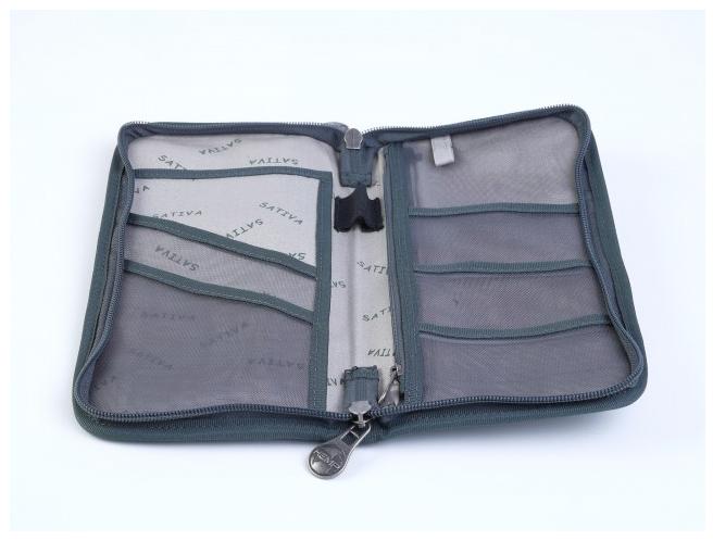 Hemp Wallet and Passport Holder - Grey