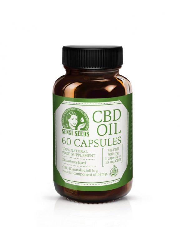 Sensi Seeds CBD Oil Capsules 600mg 60pcs-0