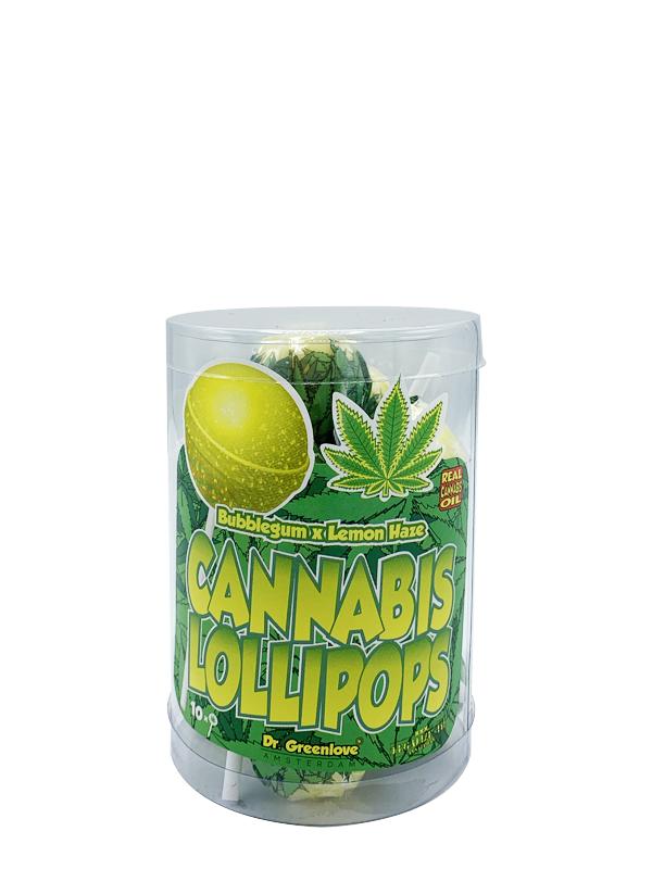 Buy Cannabis Lollipops Bubble Gum x Lemon Haze – 10 pack