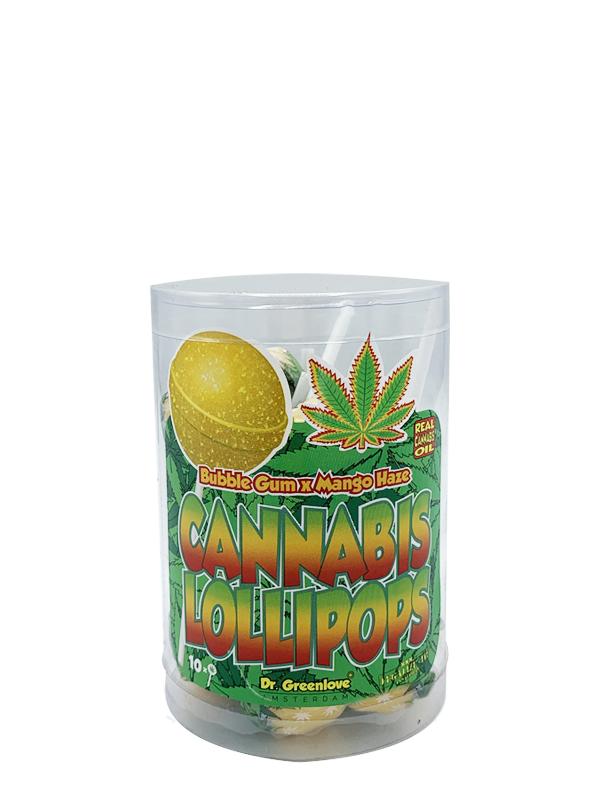 Buy Cannabis Lollipops Bubble Gum x Mango Haze – 10 pack