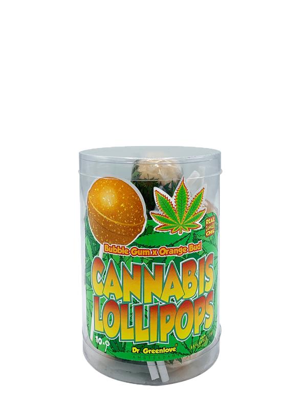 Buy Cannabis Lollipops Bubble Gum x Orange Bud – 10 pack