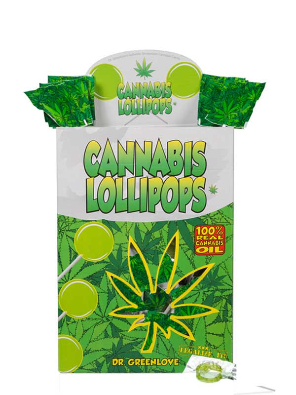 Buy Cannabis Lollipops – Classic (display box: 150 lollies)
