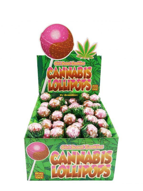 Buy Cannabis Lollipops Bubble Gum x Girl Scout Cookies