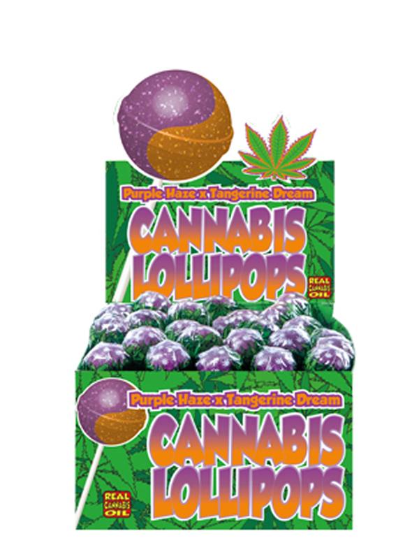 Buy Cannabis Lollipops Bubble Gum x Purple Haze