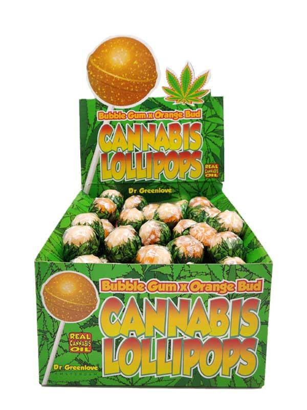 Cannabis Lollipops Bubble Gum x Orange Bud-0