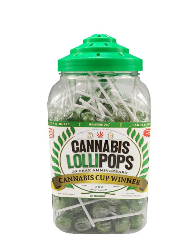 Buy Hemperium's Original Cannabis Lollipops - retro jar