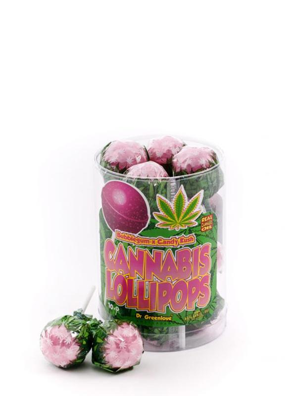 Buy Cannabis Lollipops Bubblegum x Candy Kush - 10 pack