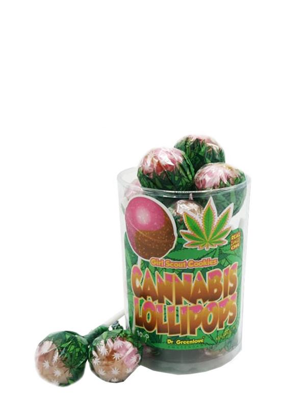Buy Cannabis Lollipops Bubble Gum x Girl Scout Cookies – 10 pack