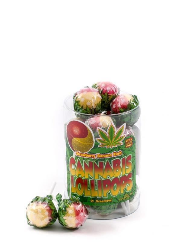 Buy Cannabis Lollipops Strawberry x Banana Kush – 10 pack