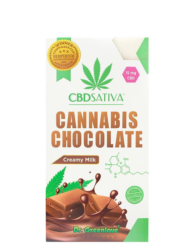 Cannabis Creamy Milk Chocolate with CBD – 15MG-0
