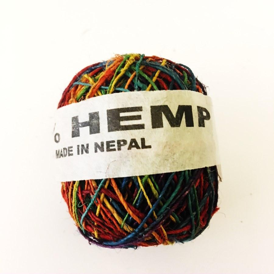 Hemp String Rainbow Color-0