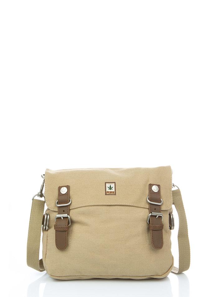 Hemp Shoulder Bag Medium - Camel-0