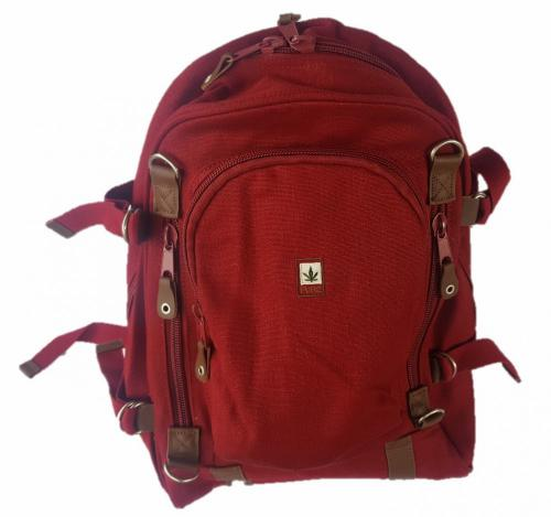 Hemp Backpack Large - Red Bordeaux-0