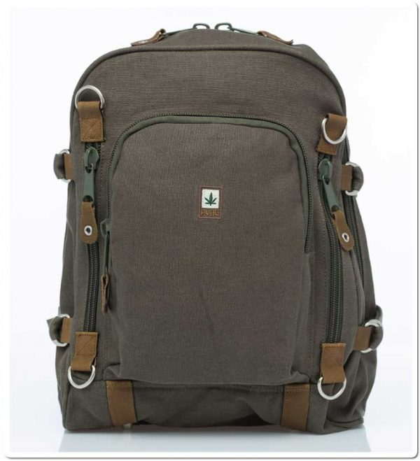 Hemp Backpack Large - Khaki-0