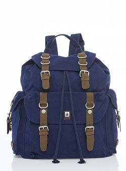 Hemp Large Rucksack - Blue-0