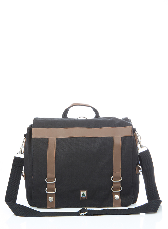 Hemp College Bag - Black-0