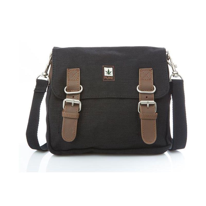 Hemp Shoulder / Belt Bag - Black-0